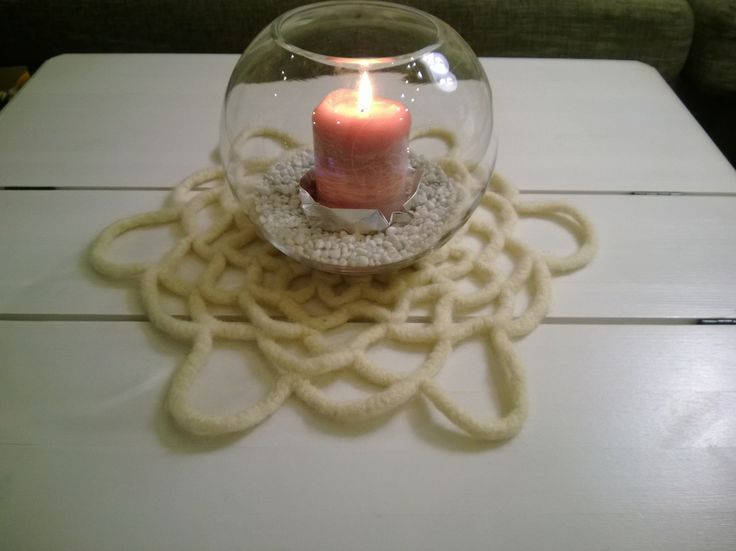 Crocheted felted cloth