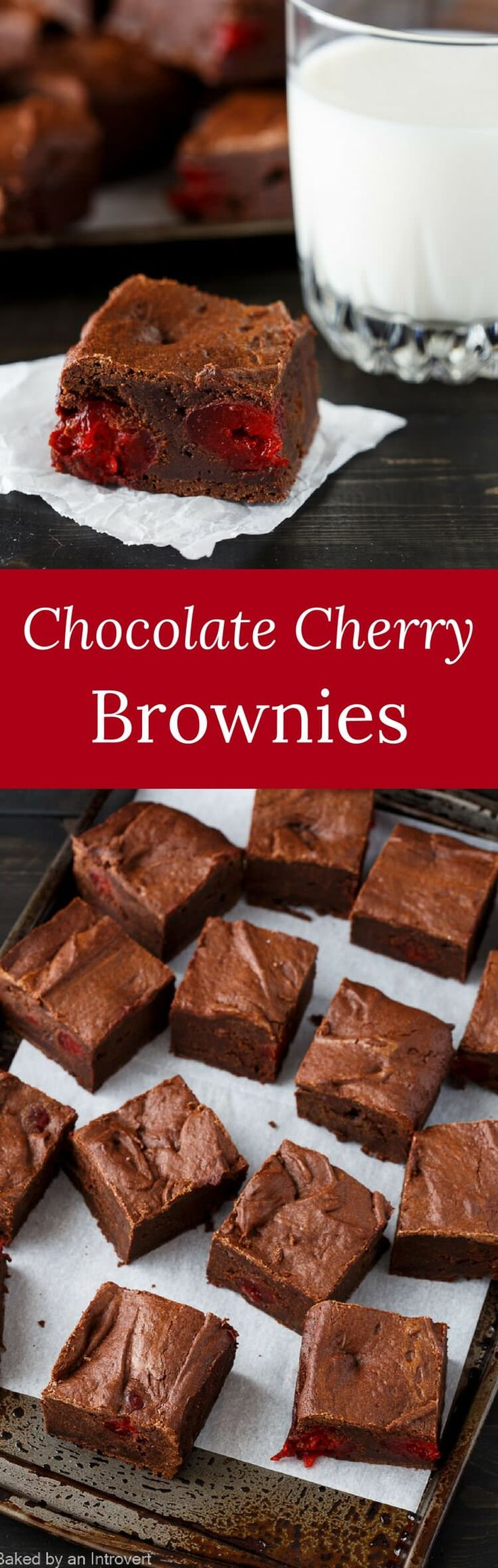 Enjoy a classic flavor combination with this easy recipe for Chocolate Cherry Brownies. This is sure to become a household favorite! via @introvertbaker