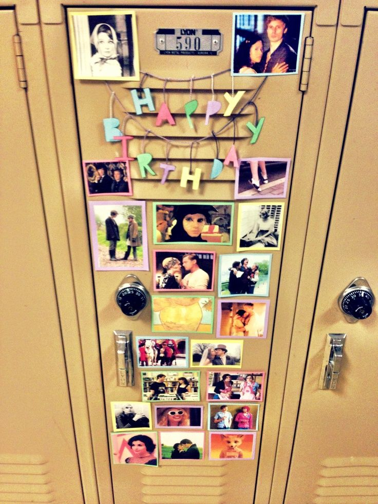 9 best Birthday locker Ideas images on Pinterest Birthday gifts