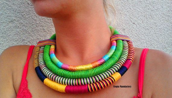 Check out this item in my Etsy shop https://www.etsy.com/listing/242486132/raven-colorful-necklace-ethnic-necklace