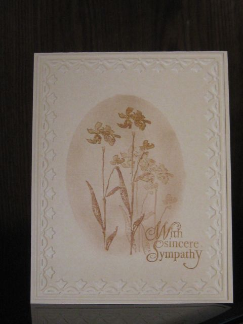 Reverse masking sympathy card using Art of Life from Stampin' Up