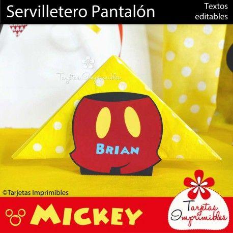 Mickey Mouse Servilletero Pantalón