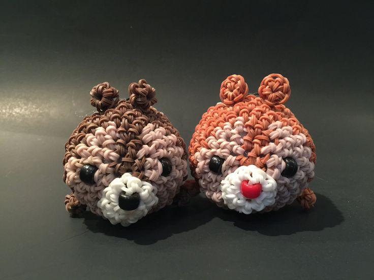 Disney's Chip 'n' Dale Tsum Tsum Rubber Band Figure | Amigurumi | Loomigurumi by BBLNCreations on Etsy  Loomigurumi Amigurumi Rainbow Loom