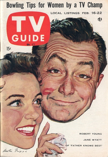 TV Guide, Feb. 16, 19857 — Jane Wyatt & Robert Young  in Father Knows Best (1954-60, CBS)