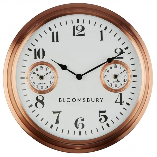 Copper Stylish Wall Clock Large White Wall Clock Wall Clock