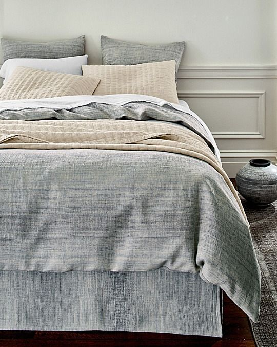 Superior Rippled Like The Surface Of A Mountain Stream, This Intricate Organic  Cotton Coverlet Is Woven