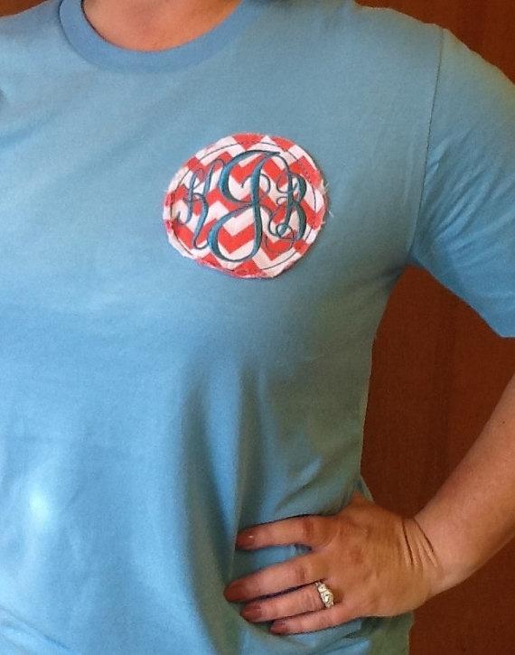 Monogram Patch Tshirt by KBJsMonogram on Etsy, $22.00