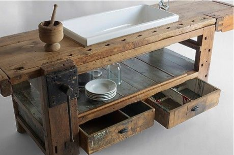 Vintage-Küchenmöbel Olmo Table von Manoteca… via Designchen