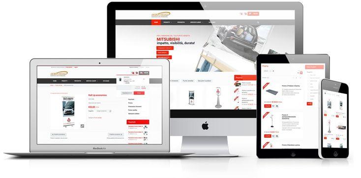 E-commerce B2B, snello e immediato, dedicato ai concessionari autorizzati SsangYong e Mitsubishi, integrato con un'accesso SSO e basato su layout responsive