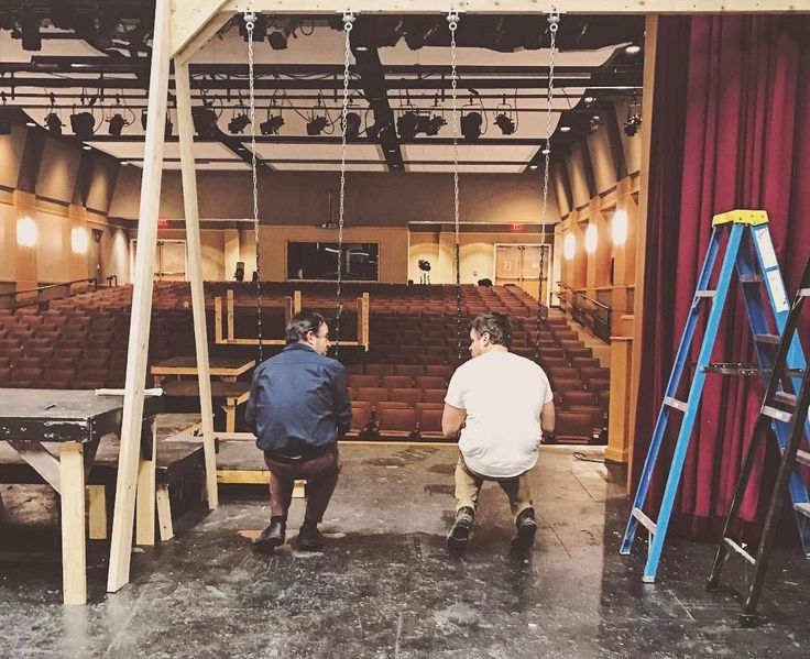 Mr. Sugerman & Mr. Dawson - #BFF. Thanks for snapping this #epic photo Ashley Barron '18. #GrotonMA #friends #family #theatre #swing #latergram #adorable