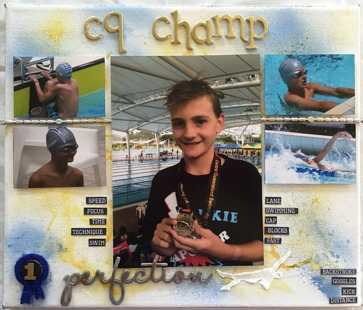 Toni Herron..... Scrap Crazy: Swim Champ Canvas