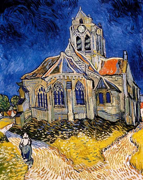 Vincent Van Gogh - Post Impressionism - Auvers - L'Eglise d'Auvers - 1890