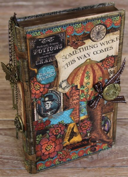 Steampunk Spells altered book art Graphic 45 Ning