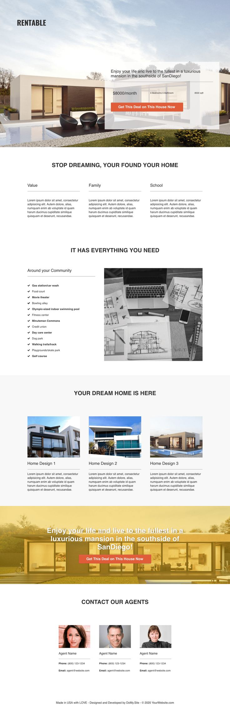 $17   RENTABLE Lead Page Template Premium Clickfunnels Template - Do My Site - https://DoMy.Site