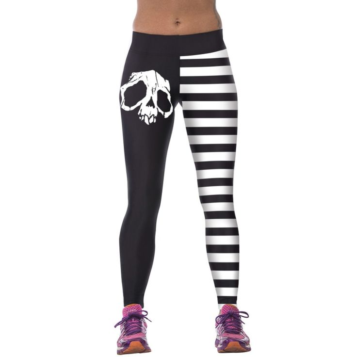 Moda 3D Stampati Donne Pantaloni A Vita Alta Fitness Stretch Fitness Leggings
