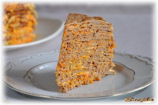 Фото к рецепту: Торт из печени