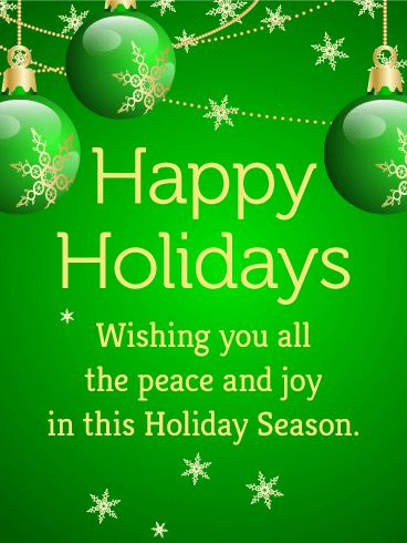 61 best seasons greetings cards images on pinterest anniversary green bauble seasons greetings card peace in abundance joy overflowing this vibrant holiday m4hsunfo