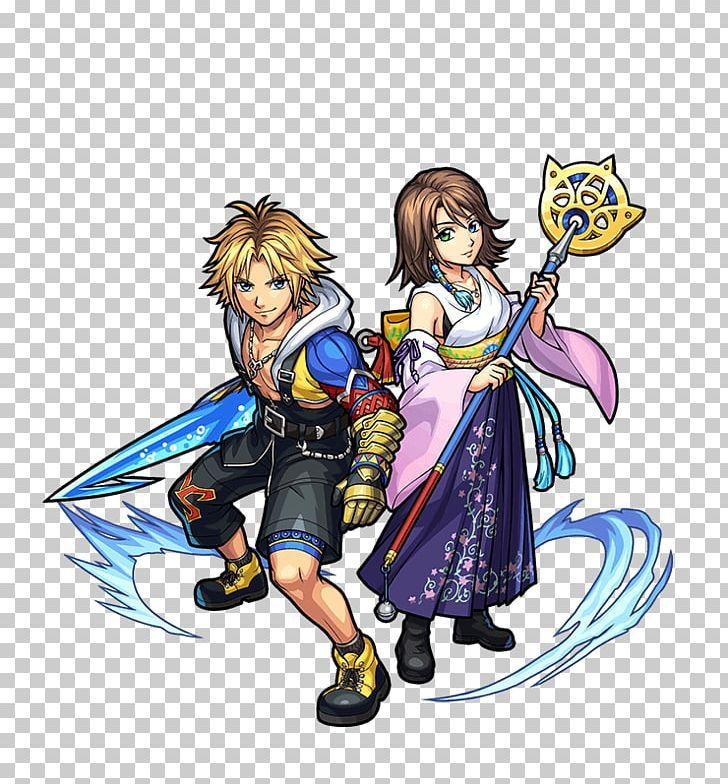 Monster Strike Final Fantasy X Tidus Yuna Png Anime Art Cartoon Character Chocobo Yuna Final Fantasy Final Fantasy X Tidus And Yuna