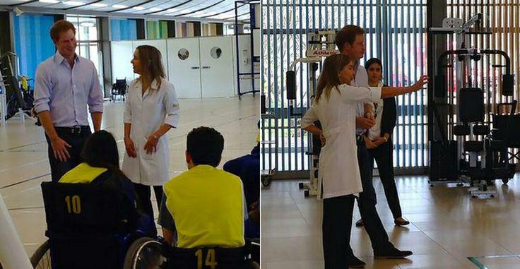 Príncipe Harry visita hospital em Brasília e assiste a jogo de cadeirantes