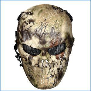 OutdoorMaster Full Face Airsoft Mask with Metal Mesh Eye Protection-Best Airsoft Masks Reviews