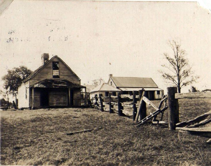 Old Pilgrim's Inn, erected 1826, Blaxland, Blue Mountains NSW, photographed 1927 Now the site of McDonald's