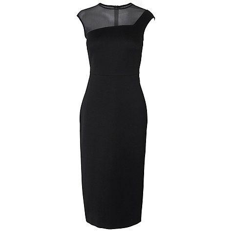 Buy L.K. Bennett Sophia Bodycon Dress, Black Online at johnlewis.com