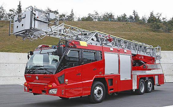 【モリタ】先端屈折式はしご車 受注生産【消防車】【はしご車】【楽天市場】