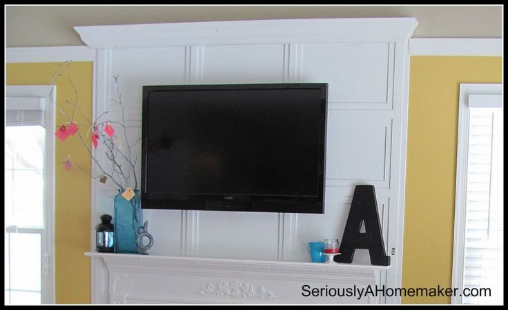 16 helpful solutions to hide the eyesores in your home Components and TV above Fireplace