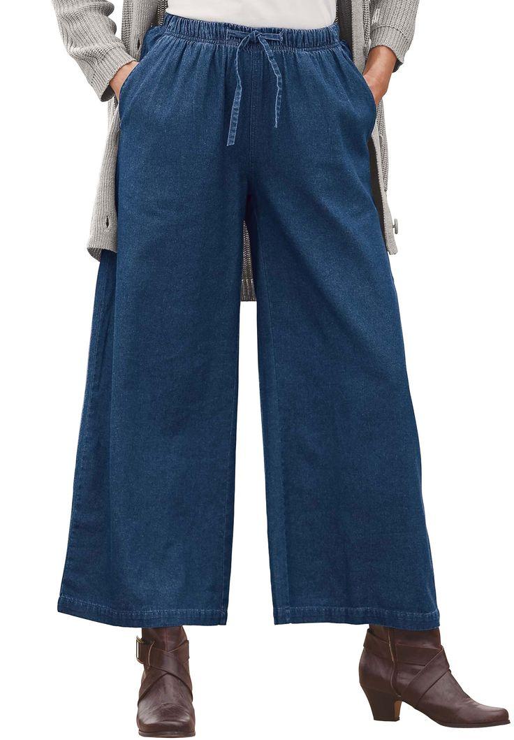 Pants, denim, cropped, palazzo   Plus Size Jeans & Pants ...