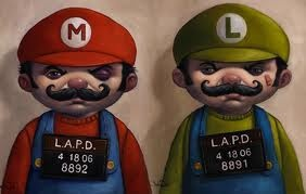 Mario Bros Mugshots LOL