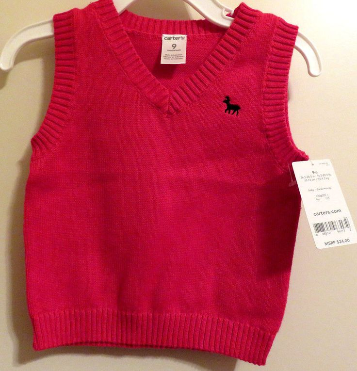 NWT Carter's Brand Infant Boy's Size 9 Months Red Sleeveless V ...