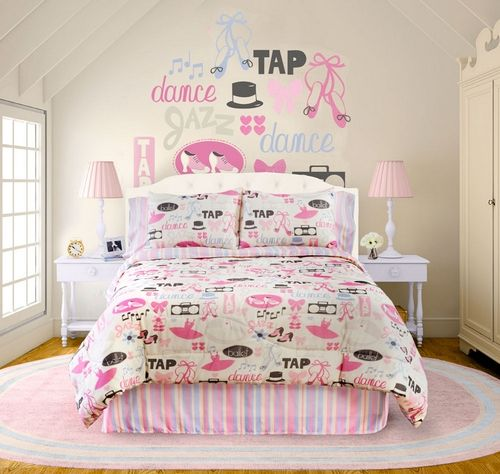 Certain to please any young dancer  this dance themed girls queen comforter  set is wonderfully vibrant  This perfectly coordinated set includes a. 17 Best images about Dance themed rooms on Pinterest   Ballet