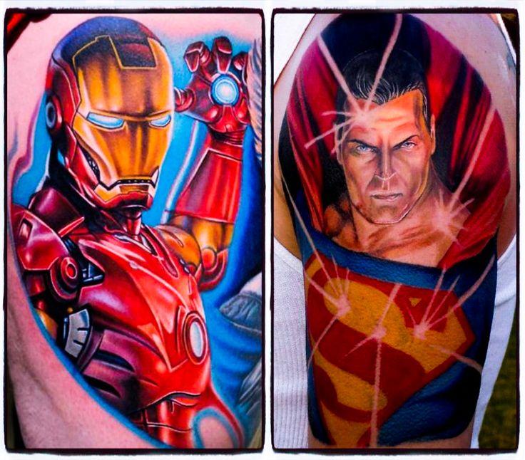 Superhero tattoo 39 s iron man by nikko hurtado of black for Black anchor collective tattoo