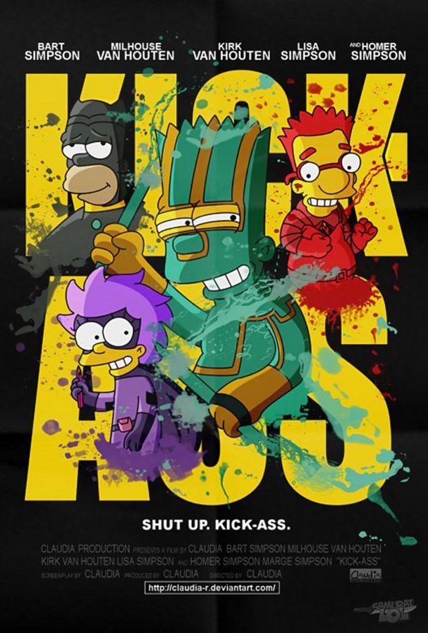 Posters de filmes no estilo dos Simpsons   HumorDeCadaDia