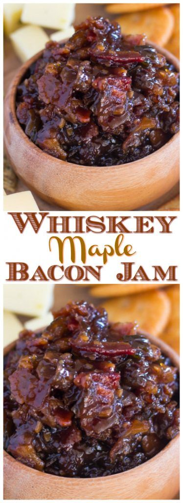 This recipe for Whiskey Maple Bacon Jam is going to be your most favorite holiday recipe. It's a guarantee.
