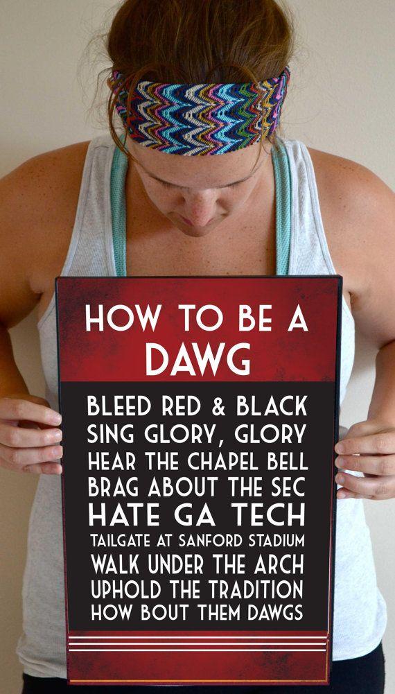 Georgia Bulldogs Art Print Quote Poster Sign Decor 11 X 17