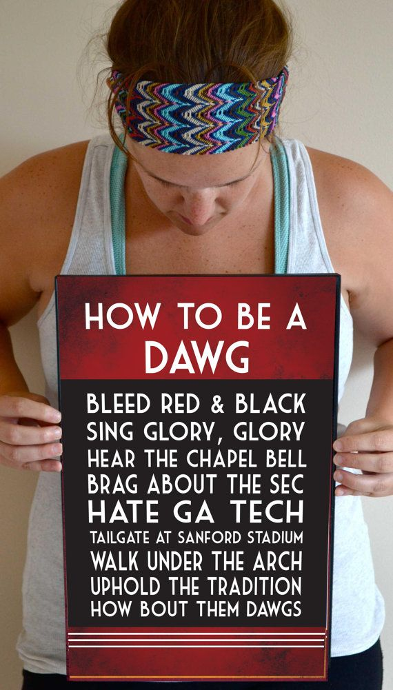 Georgia Bulldogs Art Print, Georgia Bulldogs Quote Poster Sign, Georgia Decor 11 x 17 on Etsy, $21.00