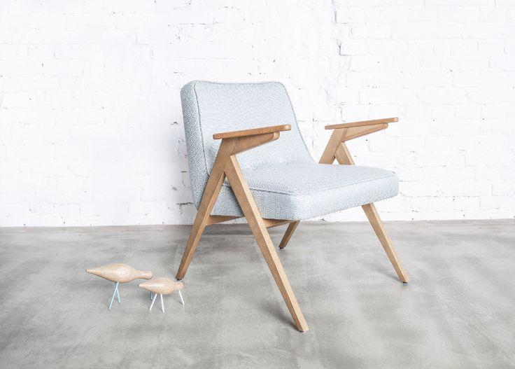 Fotel Bunny marki 366 Concept to reedycja klasycznego fotela, który swoją nazwę wziął od podłokietników w kształcie króliczych uszu. Znakomicie sprawdzi się we wnętrzach w skandynawskim stylu i nie tylko.  www. euforma.pl  #fotel #bunny #366concpet #polishdesign #kultowyfotel #polishprl