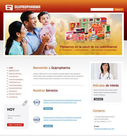 Sitio web para QUIPROPHARMA - Año ©2009