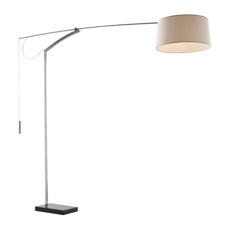 Zuo modern 50021 blazar floor lamp in beige