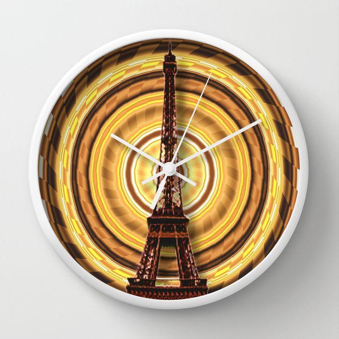#Society6 - Eiffel Tower Wall Clock by Elena Indolfi