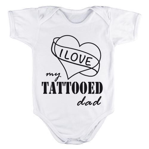 Body per neonato personalizzato I love my tattooed dad