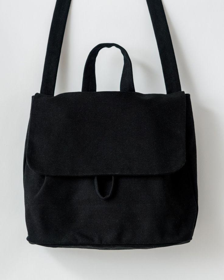 Canvas Shoulder Bag - Black – BAGGU