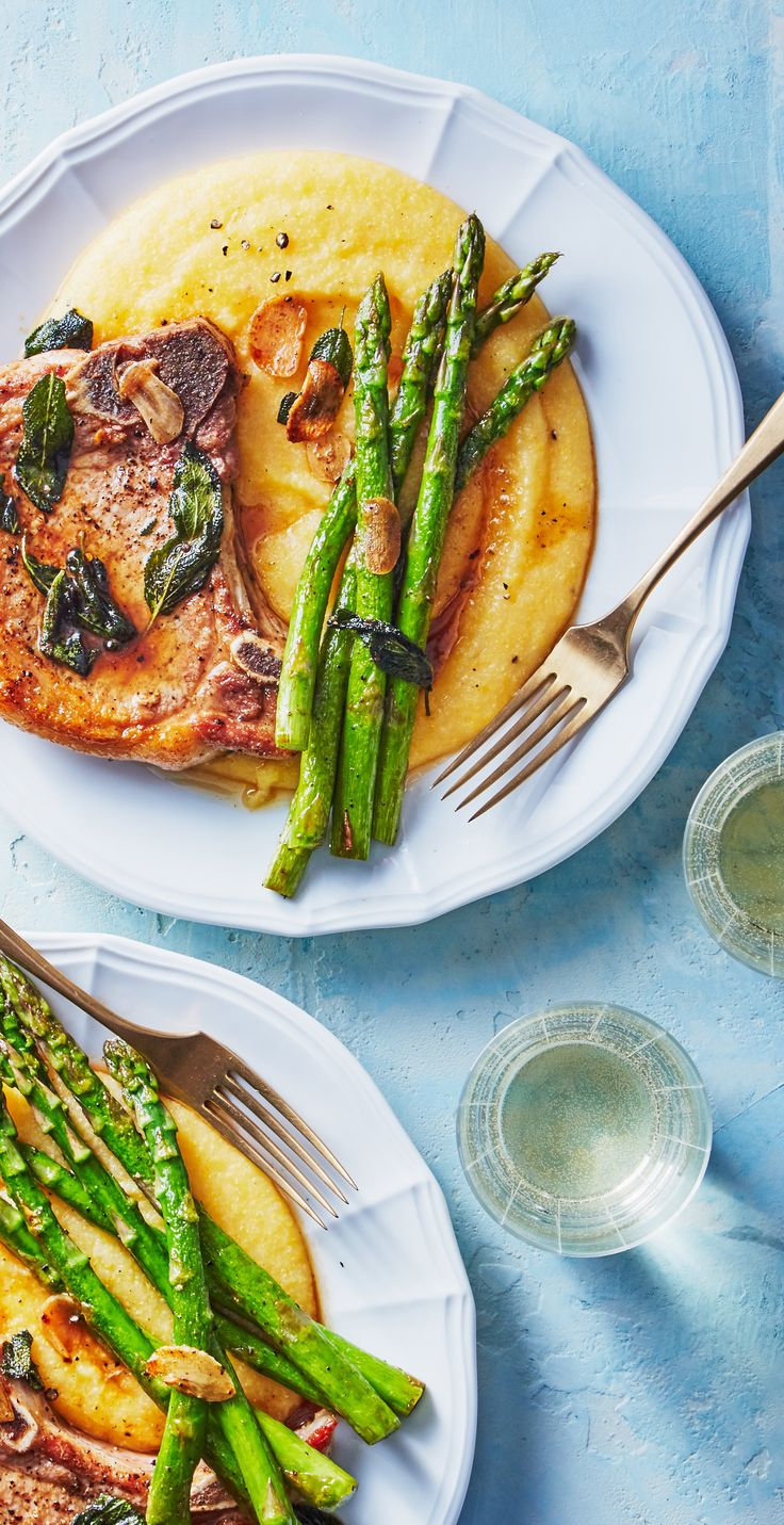 This Pork Chop And Asparagus Dish Has The Look And Taste Of A Fancy Dinner Party Meal But Its