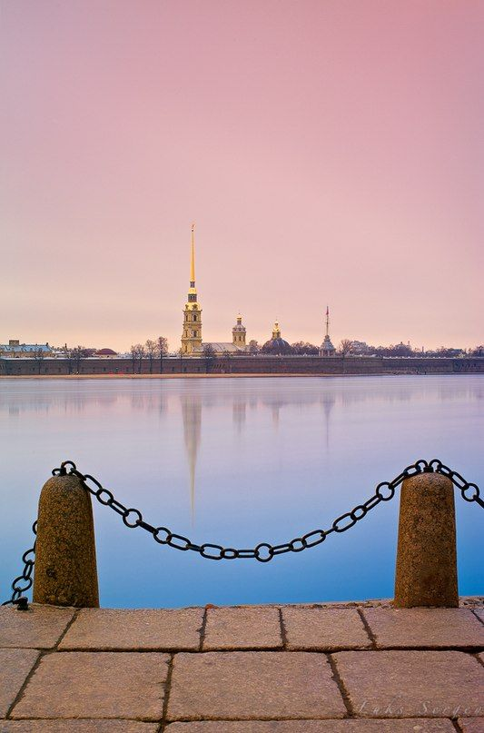 View of a Peter and Paul Fortress. White Nights