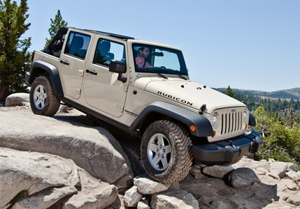 2012 Jeep Wrangler...saw one on 4th of July with a big American flag tied to the rear...beautiful scene:)