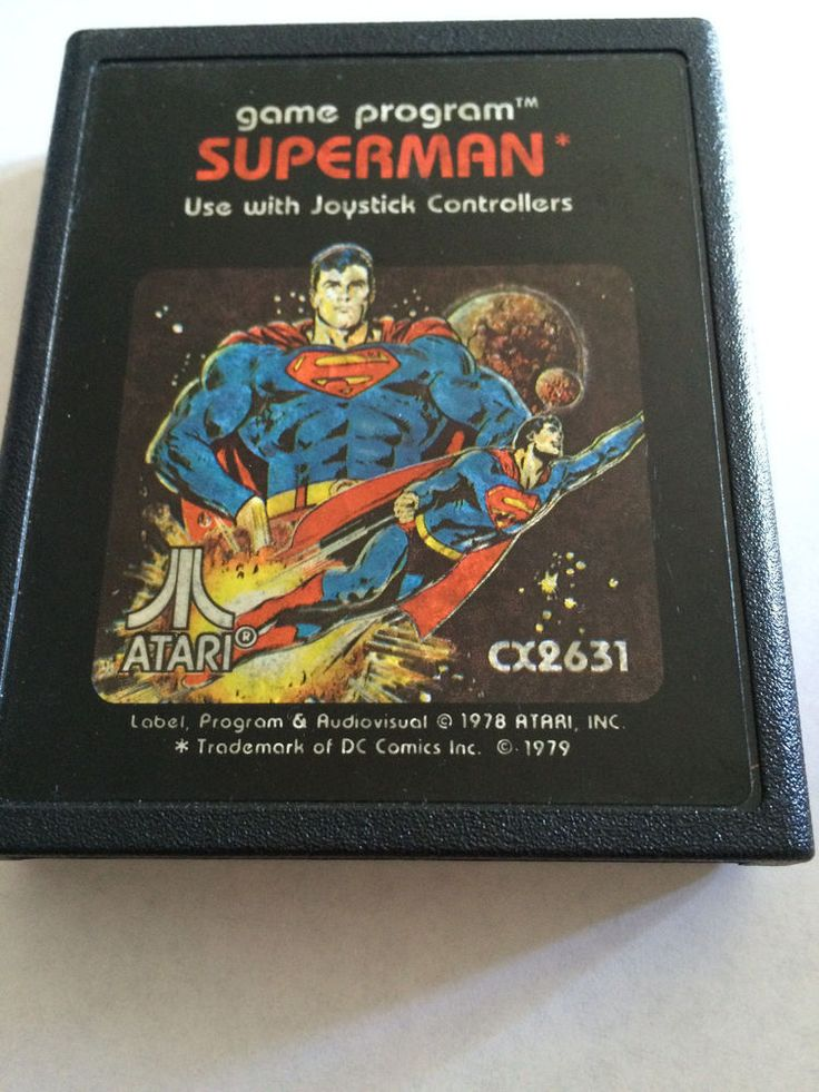 Atari 2600 Superman Picture Label CX2631 1979 Cartridge Only Works! Free Ship
