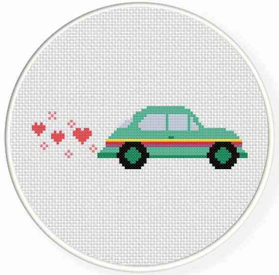 INSTANT DOWNLOAD Stitch Colorful Beetle PDF by DailyCrossStitch