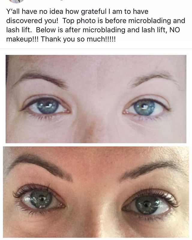 c908ab51b6c This client is in love with her lash lift and Microblading results &  who can