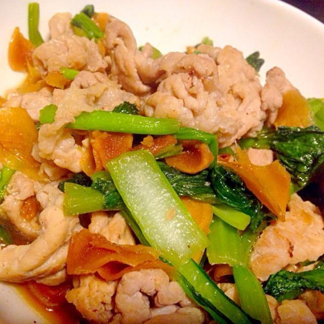 男子ごはんのレシピより - 6件のもぐもぐ - 豚バラと小松菜、生姜の佃煮炒め by ゆず